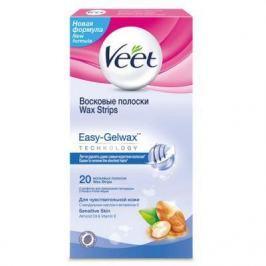 VEET Восковые полоски для чувствительной кожи c технологией Easy Gel-wax 20 шт