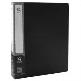 Папка с 60 файлами, форзац, ф.А4, черная SDB60/BK