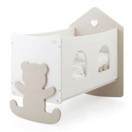 Кроватка Baby Expert Casetta (белый/крем)