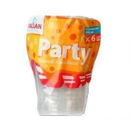 PACLAN Party Стакан пластиковый прозрачный 500мл 6шт