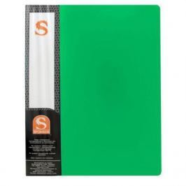 Папка с 10 файлами, форзац, ф.А4, зеленая SDB10/GN