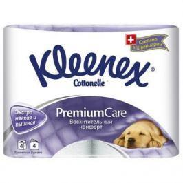 Бумага туалетная Kleenex Премиум Комфорт растворяются в воде 4-ех слойная 4 шт 4284155