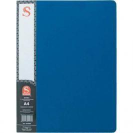 Папка с 20 файлами, форзац, ф.А4, синяя SDB20/BU