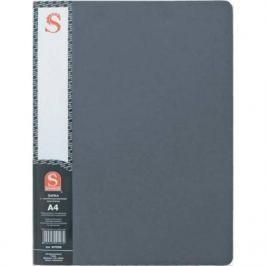 Папка с 40 файлами, форзац, ф.А4, серая SDB40/GR