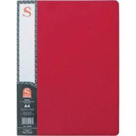 Папка с 40 файлами, форзац, ф.А4, красная SDB40/RD