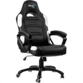 Кресло компьютерное игровое Aerocool AC80C AIR-BW черно-белый с перфорацией