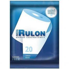 Влажная туалетная бумага Mon Rulon ароматизированная не содержит спирта влажная гипоаллергенные 20 шт
