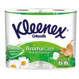 Бумага туалетная Kleenex Нежная Ромашка ароматизированная растворяются в воде 3-ех слойная 4 шт 9450158