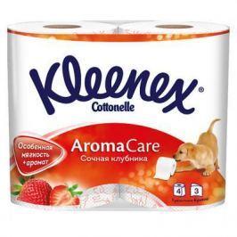 Бумага туалетная Kleenex Сочная Клубника растворяются в воде ароматизированная 3-ех слойная 4 шт 9450128