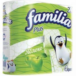 Бумага туалетная Familia Яблоко 2-ух слойная ароматизированная 4 шт