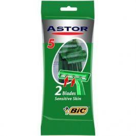 BIC Бритвенный станок с 2 лезвиями Astor Twin для чувствительной кожи блистер 5 штук