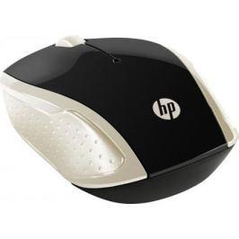 Мышь беспроводная HP 200 Silk золотистый чёрный USB 2HU83AA