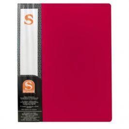 Папка с 10 файлами, форзац, ф.А4, красная SDB10/RD