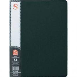 Папка с 30 файлами, форзац, ф.А4, черная SDB30/BK