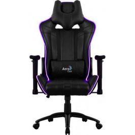 Кресло компьютерное игровое Aerocool AC120 RGB-B черный перфорация RGB подсветка 4713105968255