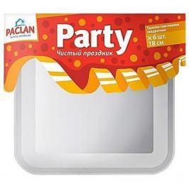 PACLAN Party Тарелка из полистирола квадратная 180мм 6шт