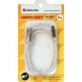 Кабель microUSB 1м Defender USB08-03LT круглый