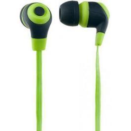 Наушники Perfeo RUBBER зелено-черный PF-RUB-GRN/BLK