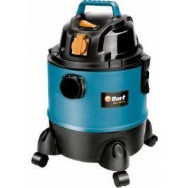 Промышленный пылесос BORT BSS-1220-Pro сухая влажная уборка чёрный синий