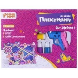 Набор для декорирования фоторамки с жидким пластилином, 12 цветов, пистолет