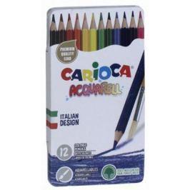 Набор цветных карандашей Carioca Acquarell, 12 матовых цветов, эффект акварельных красок