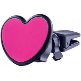 """Автомобильный держатель Perfeo PH-518-Love до 6.5"""" на воздуховод магнитный черный красный"""