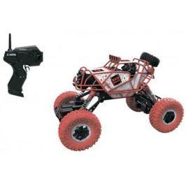 1toy Драйв, раллийная машина бигвил на р/у, 2,4GHz, 4WD, масштаб 1:43, скорость до 14км/ч, курковый пульт, амортизаторы, с АКБ, красно-белый