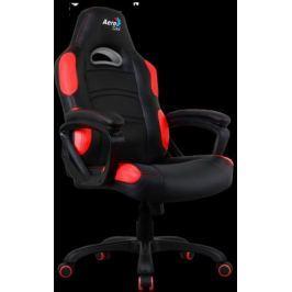 Кресло компьютерное игровое Aerocool AC80C AIR-BR черно-красный с перфорацией