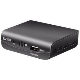 Тюнер цифровой DVB-T2 Hyundai H-DVB120 черный