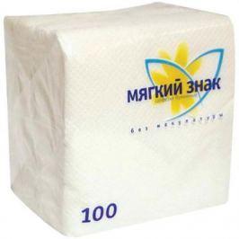 Салфетки бумажные Мягкий Знак без отдушки 100 шт