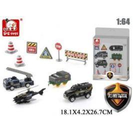 Игр.набор Спецназ, транспорт 4шт., аксессуары, коробка