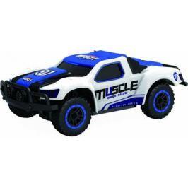 1toy Драйв, раллийная машина на р/у, 2,4GHz, 4WD, масштаб 1:43, скорость до 14км/ч, курковый пульт, TPR шины, с АКБ, голубая