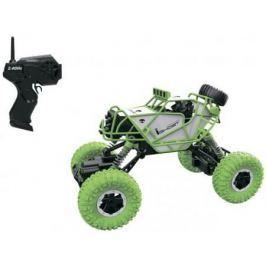 1toy Драйв, раллийная машина бигвил на р/у, 2,4GHz, 4WD, масштаб 1:43, скорость до 14км/ч, курковый пульт, амортизаторы, с АКБ, зелено-белый