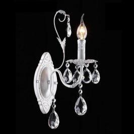 Бра Eurosvet Кристиана 10050/1 белый с серебром/прозрачный хрусталь Strotskis