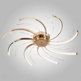 Потолочная светодиодная люстра Eurosvet Twist 90054/8 золото