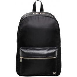 """Рюкзак для ноутбука 15.6"""" HAMA """"Mission"""" полиэстер полиуретан черный золотистый 00101589"""
