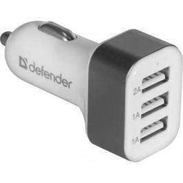 Автомобильное зарядное устройство Defender UCA-03 3 x USB 4A белый 83570