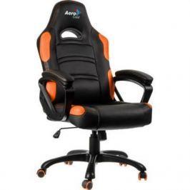 Кресло компьютерное игровое Aerocool AC80C AIR-BO черно-оранжевый с перфорацией