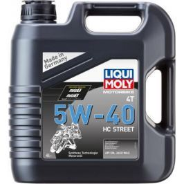 НС-синтетическое моторное масло LiquiMoly Motorbike 4T HC Street 5W40 4 л 20751