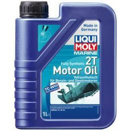 Cинтетическое моторное масло LiquiMoly Marine Fully Synthetic 2T Motor Oil 1 л 25021