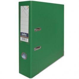 Папка-регистратор с покрытием PVC, 80 мм, А4, зеленая IND 8/50 PP GN