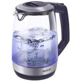 Чайник Marta MT-1095 2200 Вт темный топаз 2 л пластик/стекло