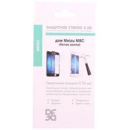 Закаленное стекло DF mzColor-14 с цветной рамкой для Meizu M5C белый