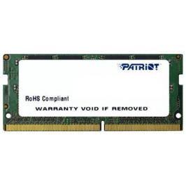 Оперативная память для ноутбуков SO-DDR4 4Gb PC4-19200 2400MHz DDR4 DIMM Patriot PSD44G240082S