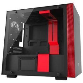 Корпус mini-ITX NZXT H200i Без БП чёрный красный CA-H200W-BR
