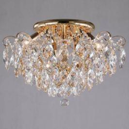 Потолочная люстра Eurosvet Crystal 10081/6 золото/прозрачный хрусталь Strotskis
