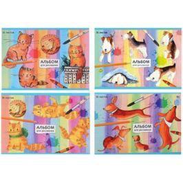 Альбом для рисования Би Джи НАРИСОВАННЫЕ КОТЯТА И ЩЕНКИ A5 16 листов А5ск16 4507