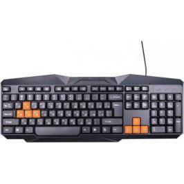 Клавиатура проводная Ritmix RKB-152 USB черный оранжевый