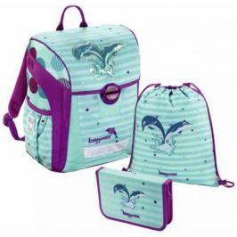Ранец светоотражающие материалы Step by Step BaggyMax Trikky Dolphin 18 л рисунок голубой фиолетовый 00138650