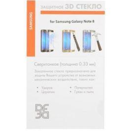 Закаленное стекло 3D DF sColor-26 с цветной рамкой для Samsung Galaxy Note 8 черный
